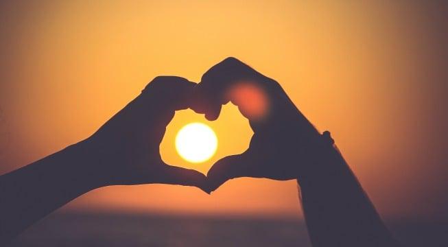 gratitude practice heart sun