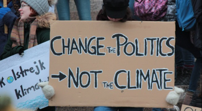 fridays for future climate strike sign